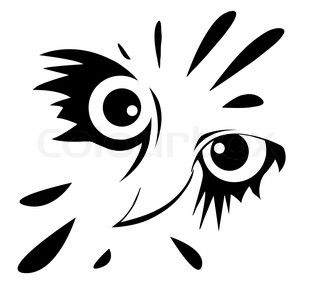 Image of 'drawing of the owl on white background'