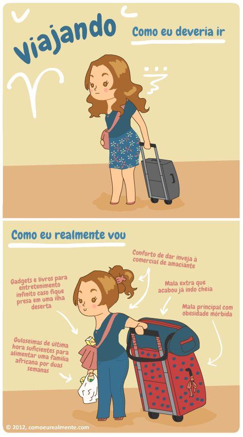 Como eu realmente...: Viajando