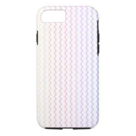 Pastel Rainbow Chevron iPhone 8/7 Case #chevron #iphone #cases #protectiion