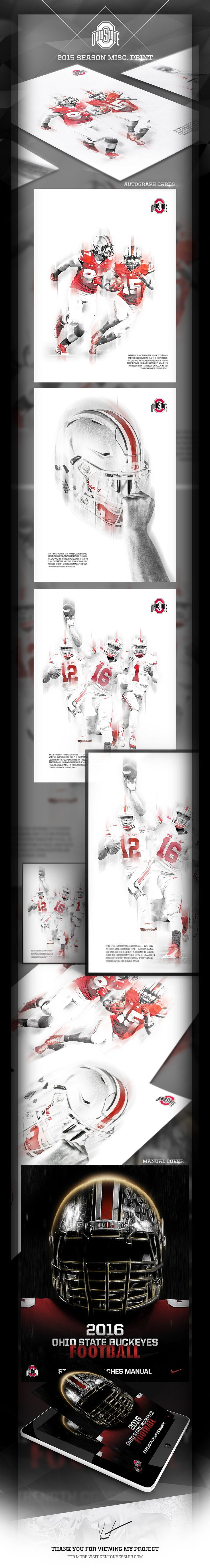 Ohio State Football Misc. Print // 2015 on Behance
