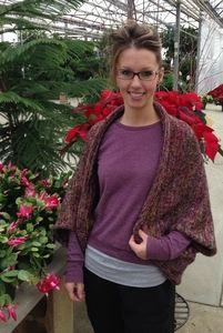 purple tones sweater/scarf