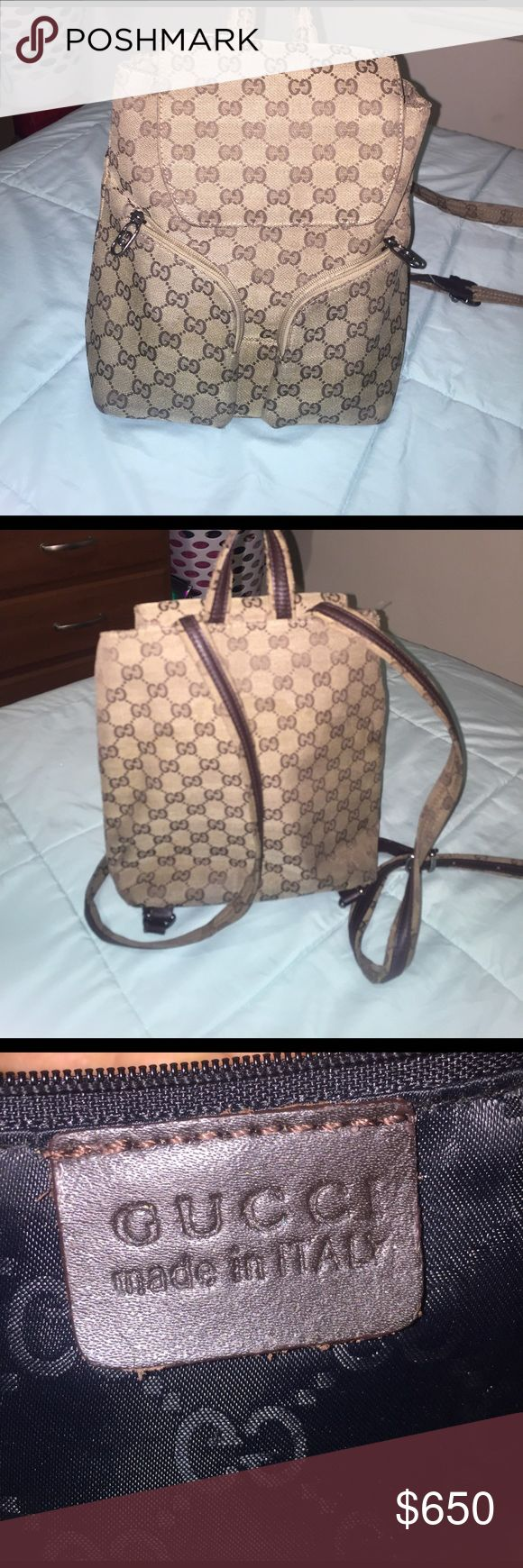 Gucci Bookbag Authentic Gucci Designer Bookbag Gucci Bags Backpacks
