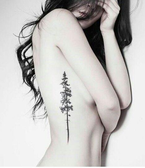 Beautiful pine tree Tatto