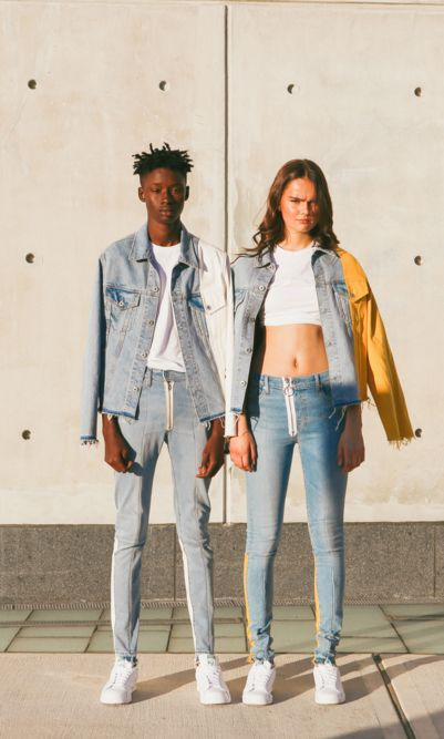 """""""Together, the two have created a forward-looking take on Levi's classics that's both nostalgic and contemporary. Past, meets present, meets future: as far as collaborations go, it doesn't get much better than that."""" - High Snobiety on our Made & Crafted x Off-White c/o Virgil Abloh collaborative collection."""