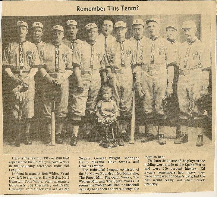 St Marys Spokeworks baseball team