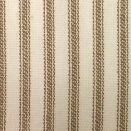 Ruffled Ticking Stripe Shower Curtain Brown