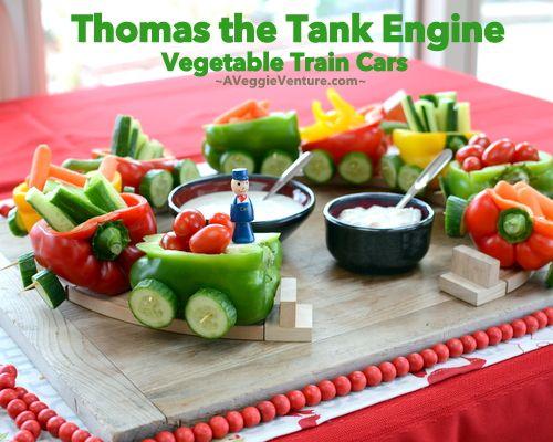 Thomas the Tank Engine Vegetable Trains ♥ A Veggie Venture