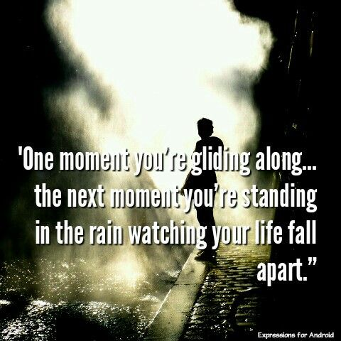 Hitch. One moment you're gliding along.. the next moment you're standing in the rain watching your life fall apart.