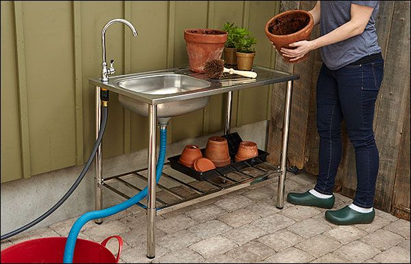 Stainless-Steel Outdoor Wash Table - Gardening