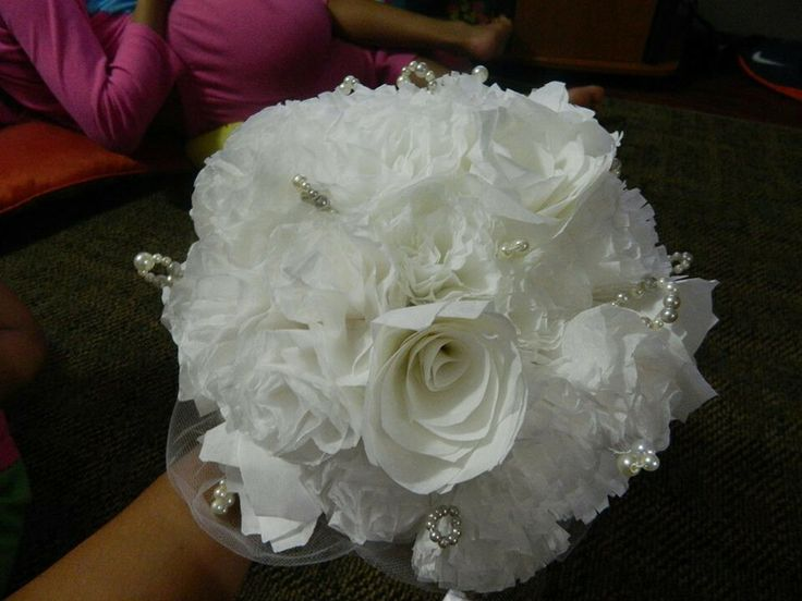 11 best diy Coffee filter flowers and wedding bouquet images on ...