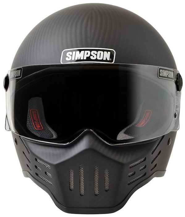 Simpson Helmets - M30 DOT Approved Helmet - Matte Carbon Fiber