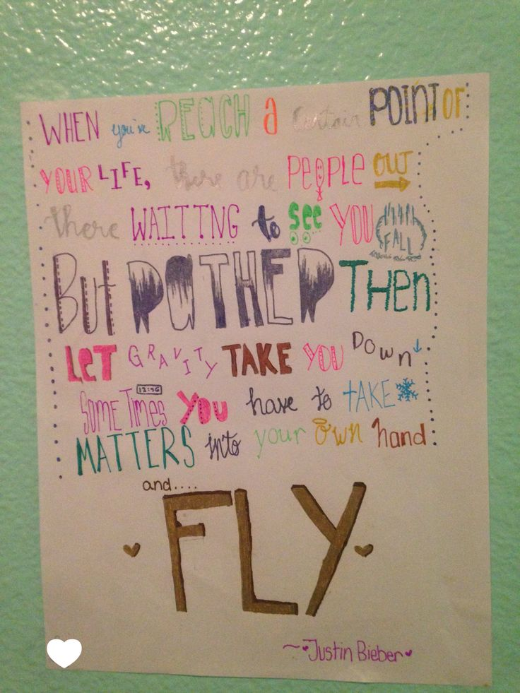 This No joke, took me forever to do. The quote he says in the believe tour ^.^