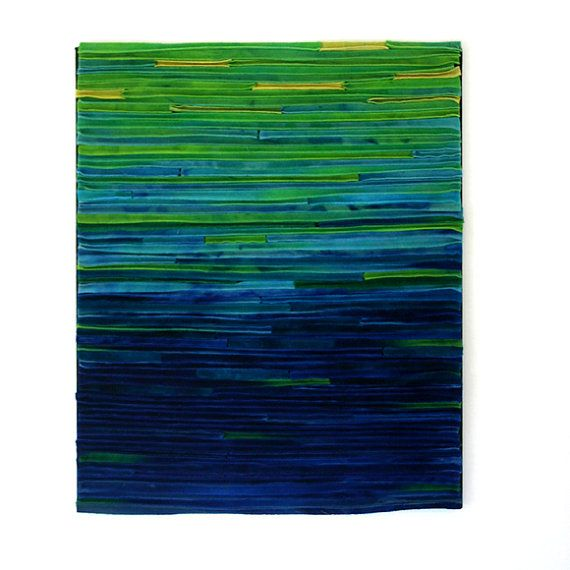 Abstract Textile Fiber Art Wallhanging / by TexturesGallery, $450.00