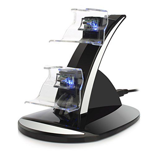 From 5.46:Xbox One Docking Station Yccteam Xbox One Xbox One S Charging Dock Dual Controller Charger Kit For Xbox One One S Console W Led Light Black (battery Is Not Includede)