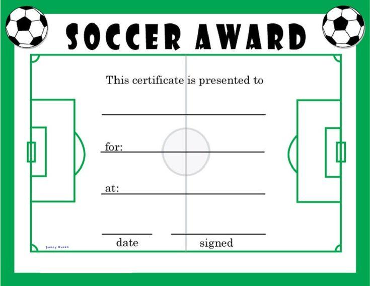 Soccer award certificates green soccer awards soccer