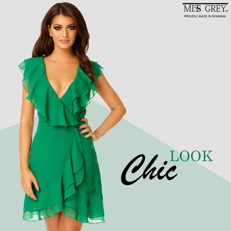 Take advantage of the last summer days and wear fluid dresses in bright colors. Discover the Brianna green dress and you will turn all heads with your fresh and youthful look.