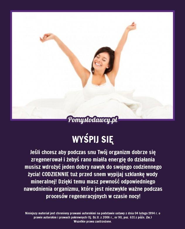 PROSTY TRIK NA WYSPANIE SIĘ I ENERGIĘ OD RANA!