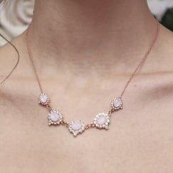 Johnny Loves Rosie Heather Blush Necklace