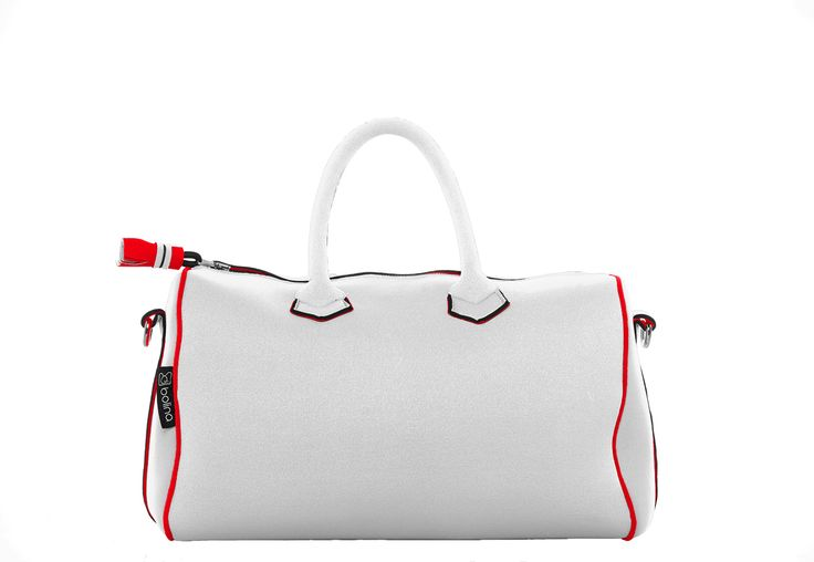 sunrise bag white and red