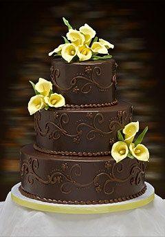 Chocolate wedding cake: