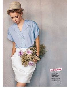 Confectionner votre chemisier, free blouse pattern in French, but could be translated.