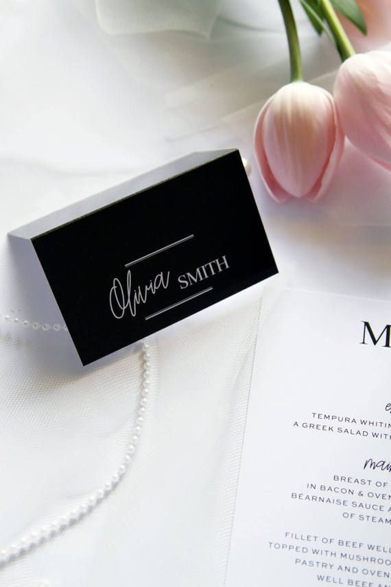 Adelita modern calligraphy place cards name cards printable place cards or printed cards your choice place cards tag names