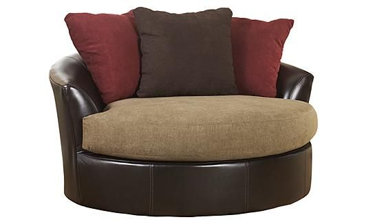 Sanya mocha oversized swivel accent chair homley for Oversized occasional chairs