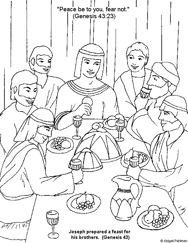 joseph coloring pages joseph and his brothers coloring page