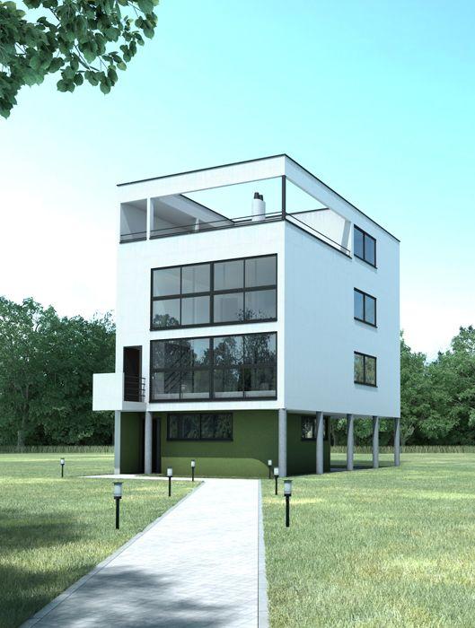 Maison citrohan le corbusier by sergio casado lecorbusier maisoncitrohan cetrohan house - Le corbusier casas ...
