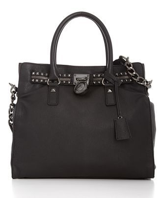 Michael Kors Hamilton Rock \u0026 Roll Tote- I died when I saw this in the  catalogue and searched all over for it! LOVE this bag with the gunmetal  studs