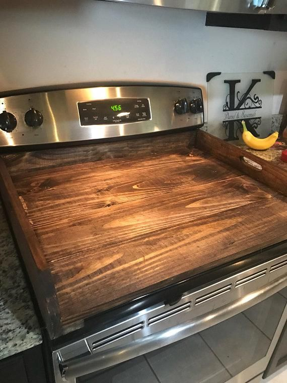 Rustic Primitive Country Noodleboard Breadboard Stove Top Cover