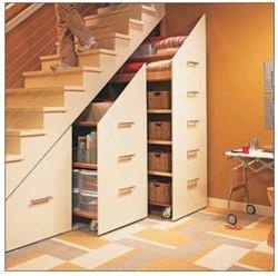 Take advantage of the storage space under your steps!
