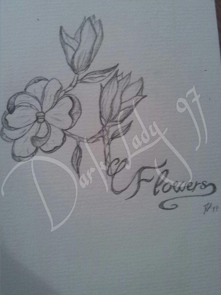Draw flowers by Chiara Rigoni // Dark Lady 97