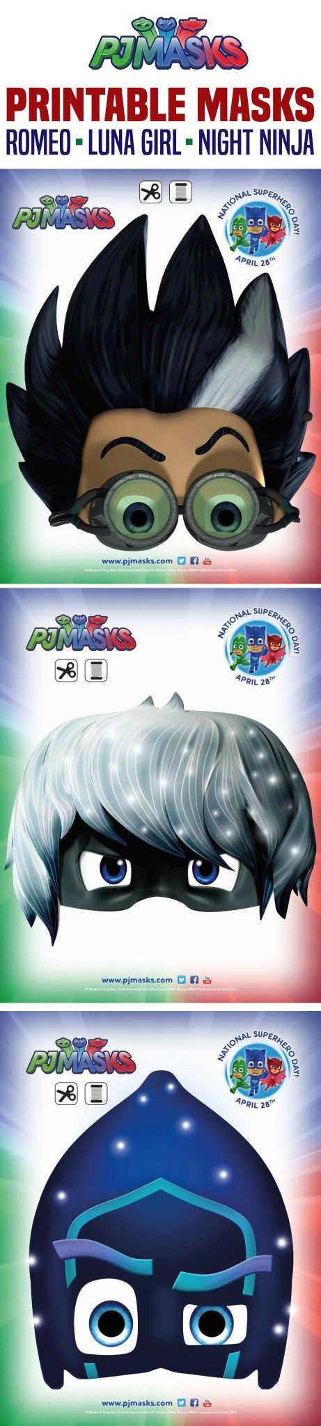 Printables - PJ Masks Night Ninja, Romeo, Luna | All Mommy Wants