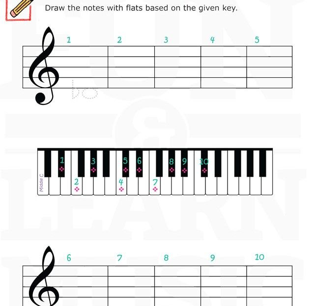 18 best flats sharps images on pinterest music theory music worksheets and flats. Black Bedroom Furniture Sets. Home Design Ideas