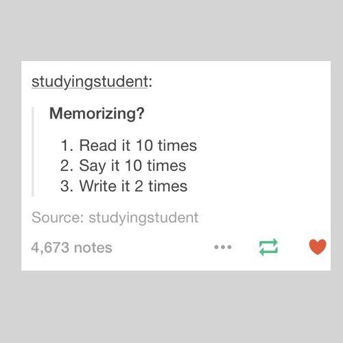Memorizing Method ✒️ | tumblr, studying and study tips