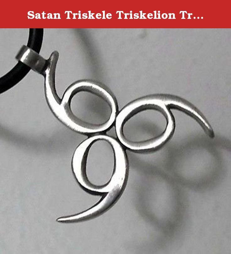 Satan Triskele Triskelion Trinity number of the beast Lucifer Satan 666 Pewter Pendant Necklace. Triskele Triskelion Trinity number of the beast Lucifer Satan 666 Pewter Pendant.