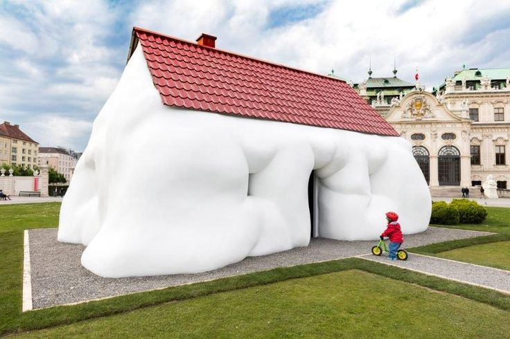 Pocket: Erwin Wurm's Fat House installed outside baroque palace in Vienna