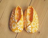 Organic Cotton Baby Kimono Shoes, 6 - 12 months