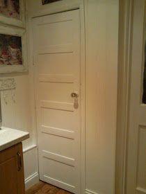 DIY, plain luan door to antique paneled door.