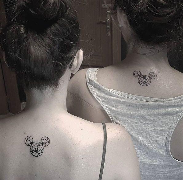 Sister Disney tattoos by Samusamuel De Martinez