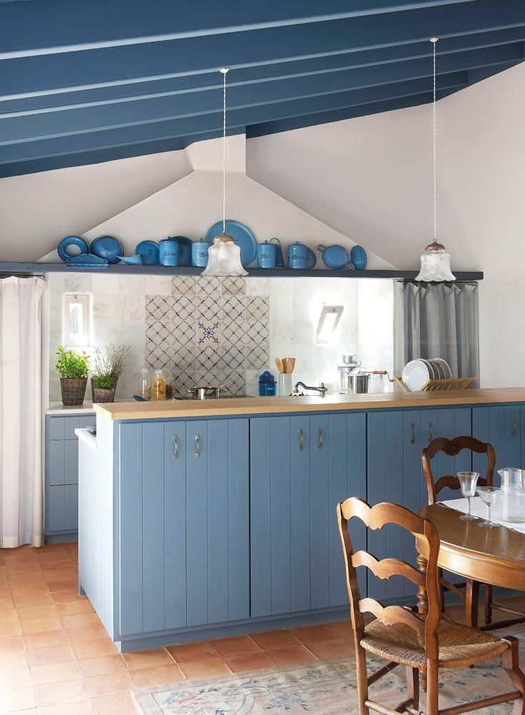 Vistoso Cocinas Azules Uk Elaboración - Ideas de Decoración de ...