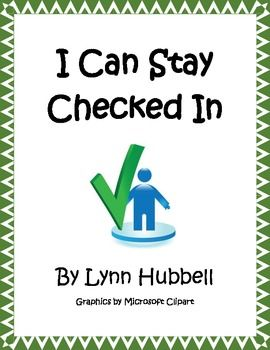 """Saying """"pay attention"""" is often not enough to get a student to pay attention. Inattentive students or those who struggle with task focus often need to be taught those skills. """"I Can Stay Checked In"""" is a story that breaks down and describes these behaviors. It can be used with a wide range of learners in special and general education classrooms. A Teacher Guide, anchor chart and multiple worksheets are also included. 4.00"""