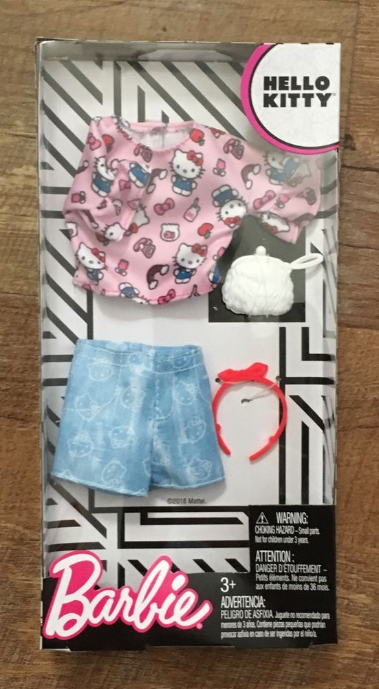 a771f52ba NEW 2018 Barbie Hello Kitty Top and Shorts-Sanrio Fashion Pack Outfit-HTF