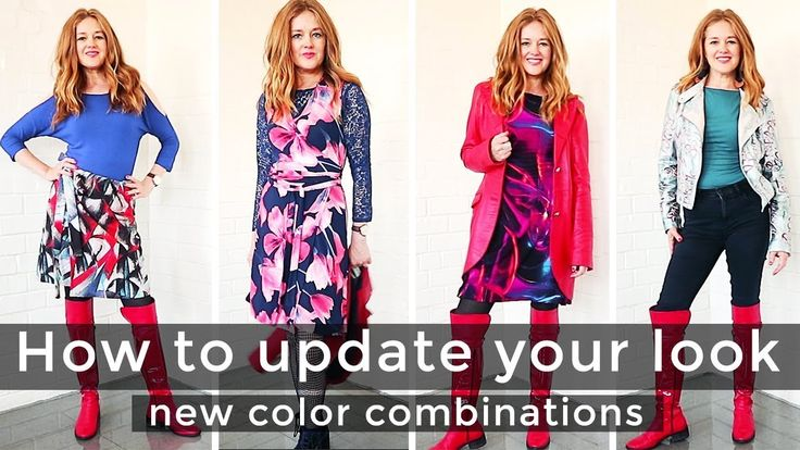 How update your look for women over 40 - How to try new color combinatio...