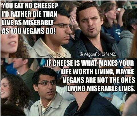 When someone says they feel sorry for you because you can't eat cheese / vegan meme / vegan humor / vegan lifestyle / veganism