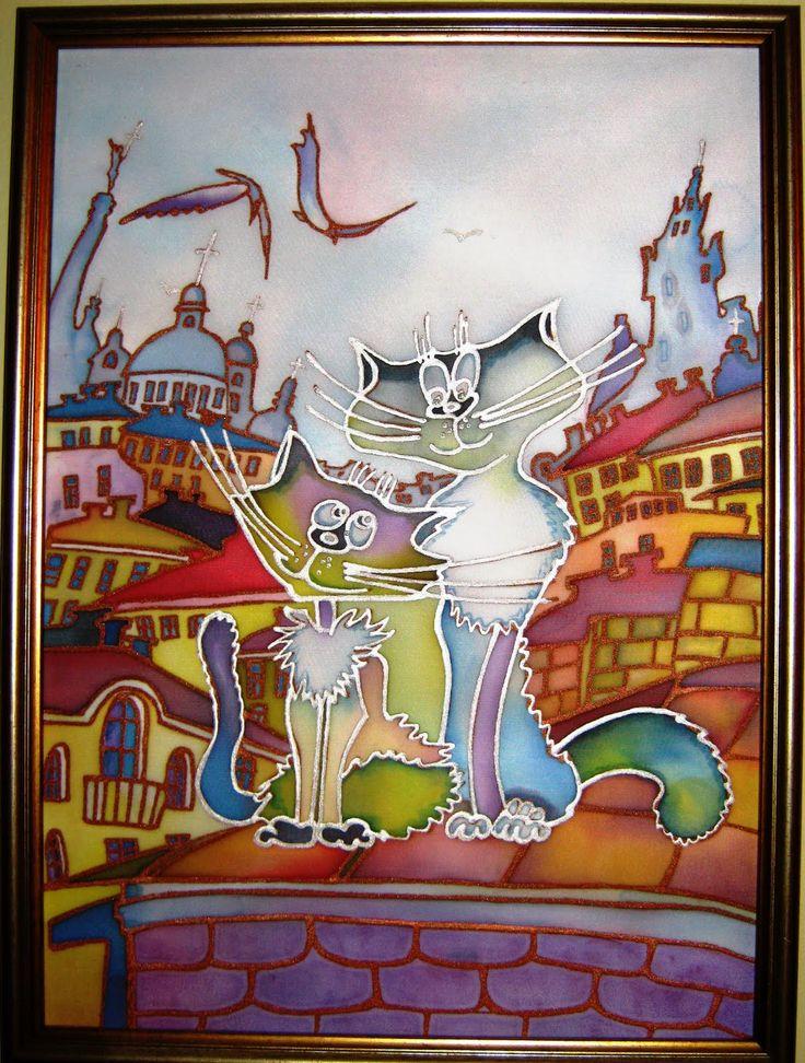 Коты картинки батик