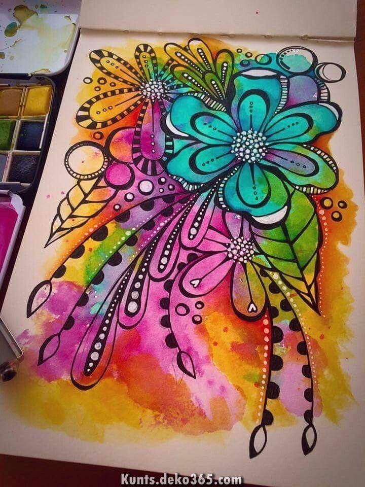 Kunst Durch Tracy Scott Aquarell Gekritzel Aquarelle Prima
