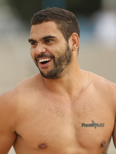 Greg Inglis smiles during an Australian Kangaroos training session at Coogee Beach on April 15, 2013 in Sydney, Australia. #Rugby #Sports #Training