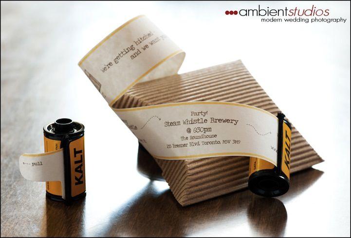 Creative Film Wedding Invitations (5 pics) - My Modern Metropolis